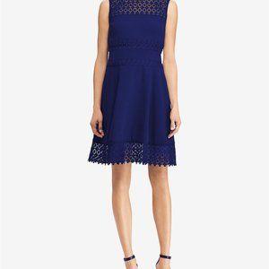 womens blue lace dress